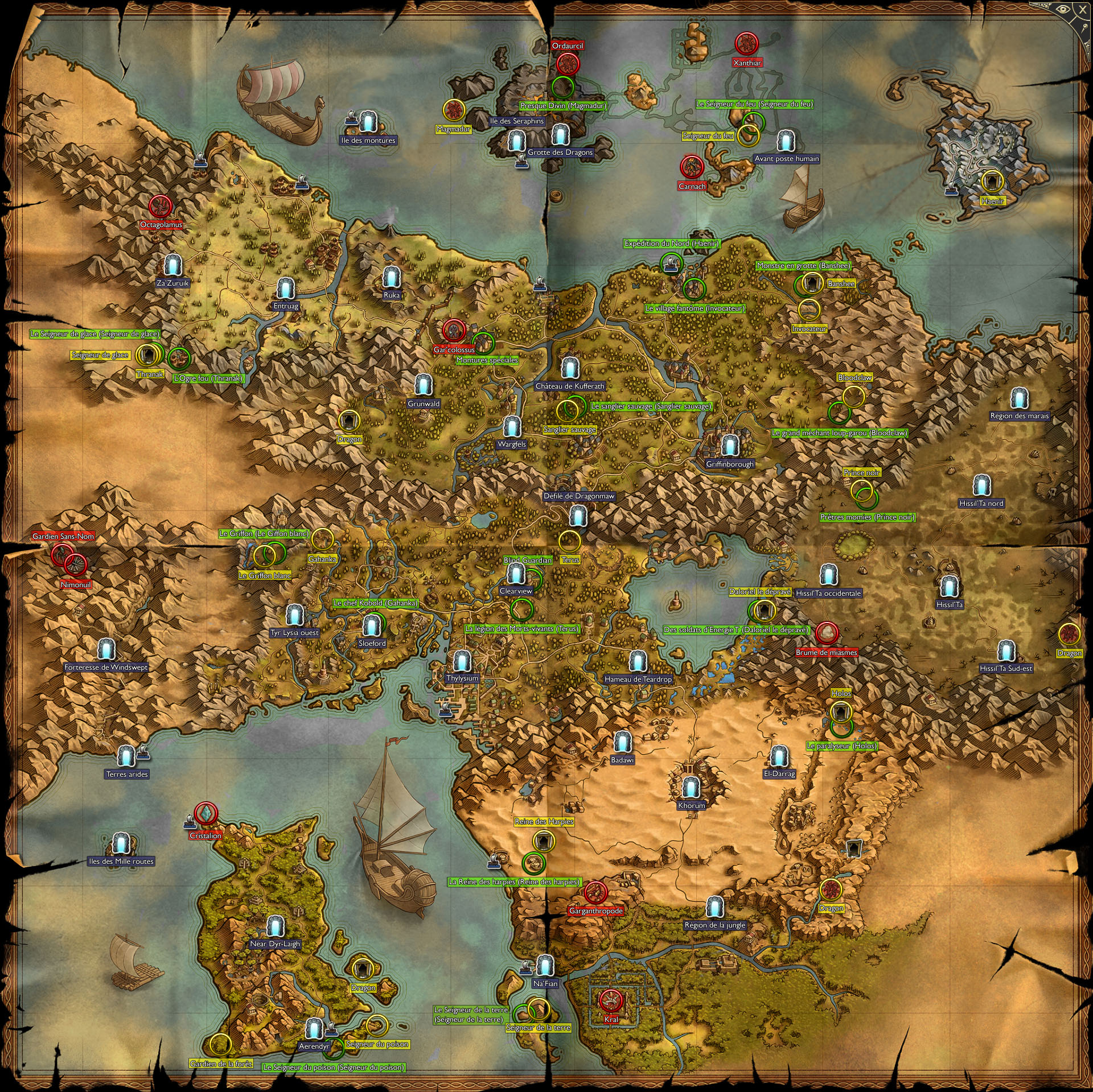 Image Gallery sacred 2 map